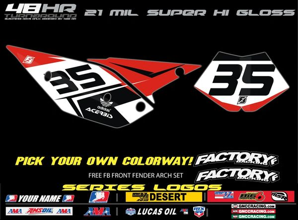 Beta Factory Backing Pre Printed Backgrounds Fast Series with 3 airbox logos