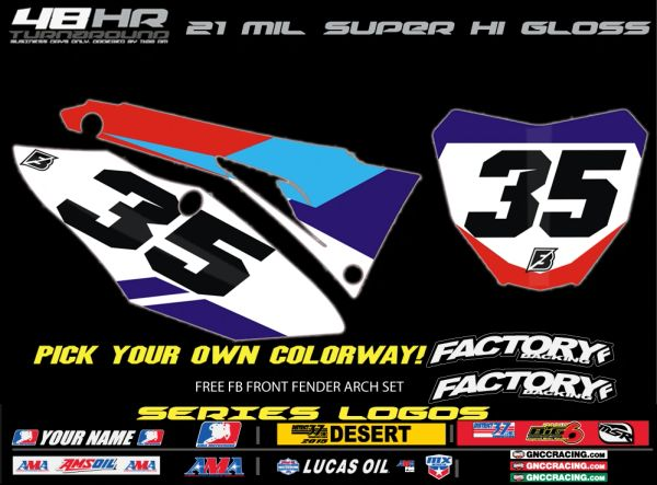 Honda Factory Backing Pre Printed Backgrounds Slain Series with 3 airbox logos
