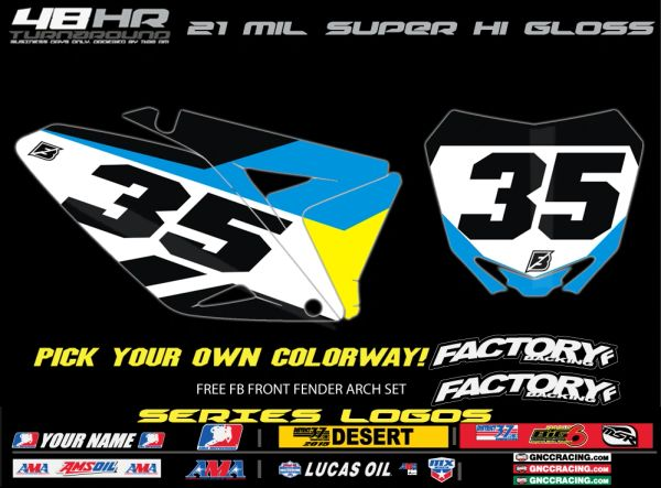 Suzuki Slain pre printed backgrounds Includes Air box if applies and 3 logos