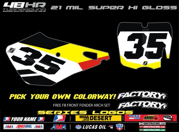 Cobra Factory Backing Pre Printed Backgrounds Slain Series with 3 logos