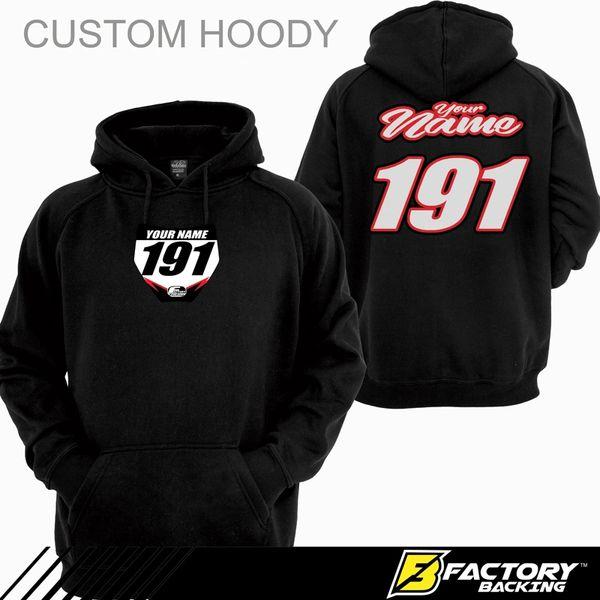 Pit Hoody Sweatshirt Style Script 18 Custom MX clothing