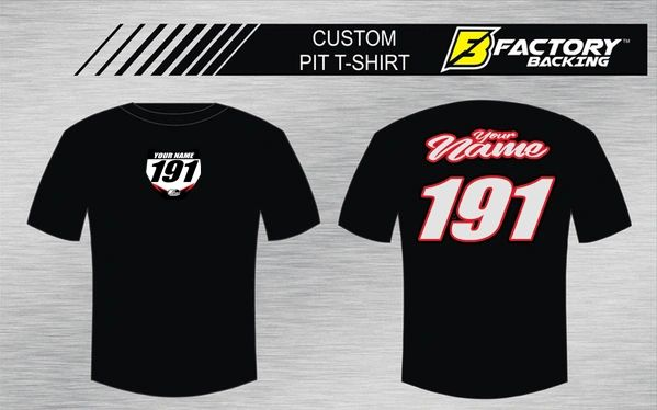Pit T Shirt Style Script 18 Custom MX clothing