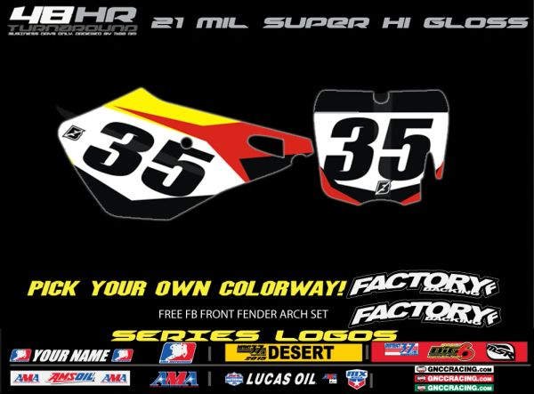 Cobra Factory Backing Pre Printed Backgrounds Rapid Series with 3 logos