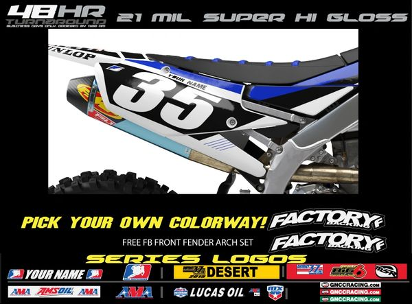 Yamaha Factory Backing Pre Printed Backgrounds Sharp Series with up to 3 airbox logos