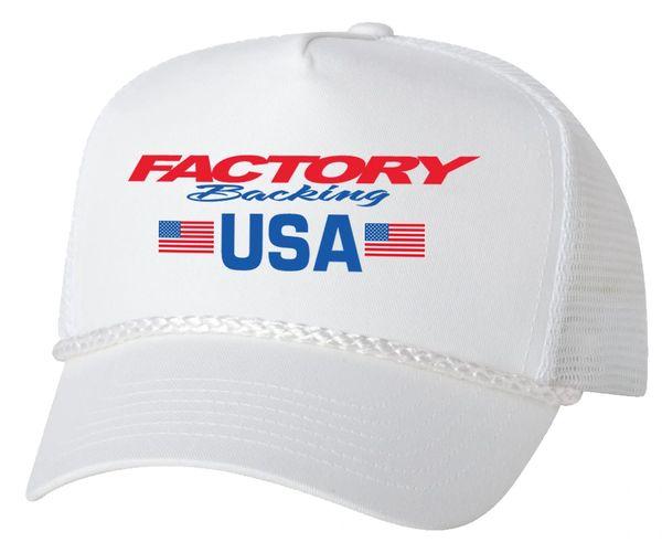 Factory Backing USA Trucker hat