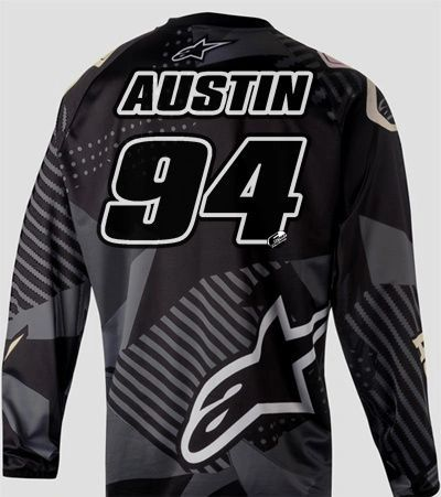Jersey Style #14 Custom printed on your Jersey FREE SHIPPING!