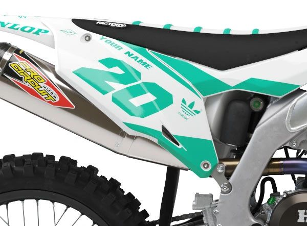 Kawasaki Factory Backing Pre Printed Backgrounds PL2 Series with 3 airbox logos