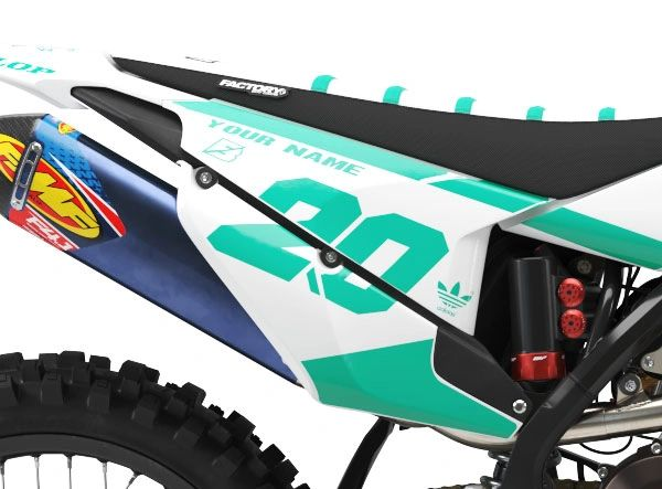 Husqvarna Factory Backing Pre Printed Backgrounds PL2 Series with 3 airbox logos