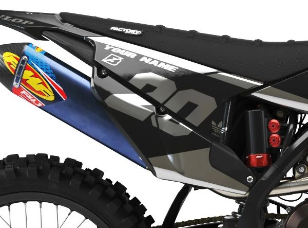 Husqvarna Factory Backing Pre Printed Backgrounds PL1 Series Chrome Ink with 3 airbox logos