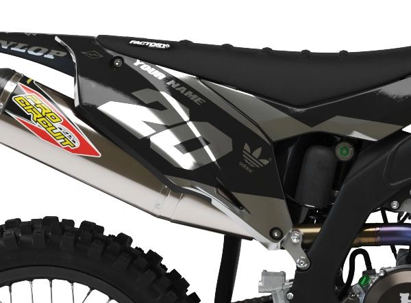 Kawasaki Factory Backing Pre Printed Backgrounds PL1 Series Chrome Ink with 3 airbox logos