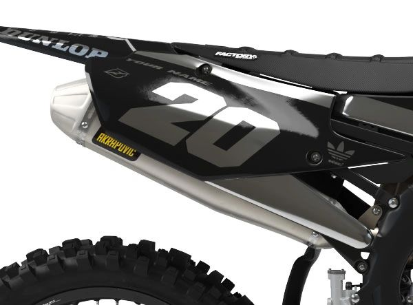 Yamaha Factory Backing Pre Printed Backgrounds PL1 Series Chrome Ink with 3 airbox logos