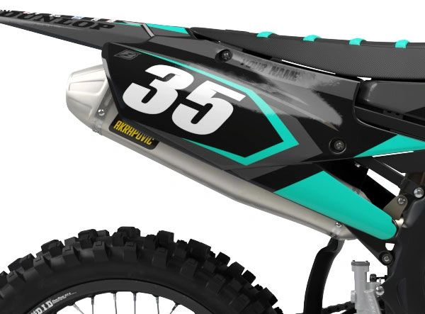 Yamaha Factory Backing Pre Printed Backgrounds Midnight Series with 3 airbox logos