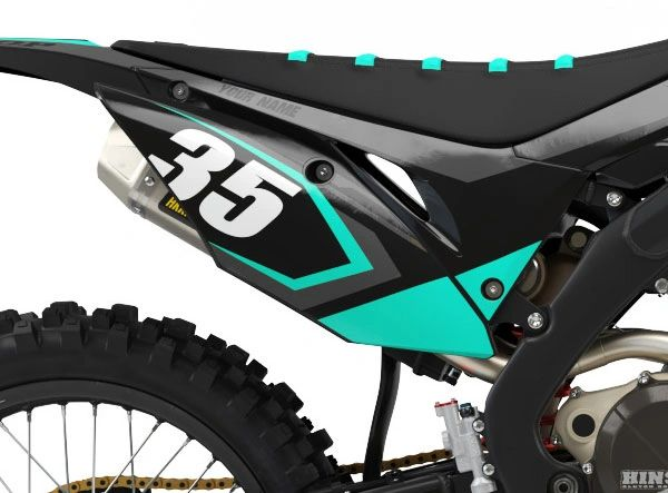 Honda Factory Backing Pre Printed Backgrounds Midnight Series with 3 airbox logos