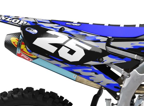 Yamaha Factory Backing Pre Printed Backgrounds Camo Series with 3 airbox logos