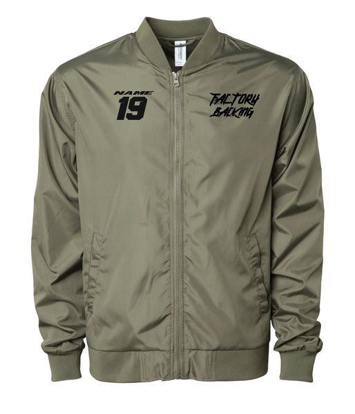 Lightweight Bomber Jacket Army green With name # Custom MX clothing