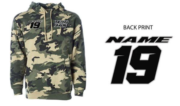 Pit Hoody Sweatshirt Army Camo Custom MX clothing
