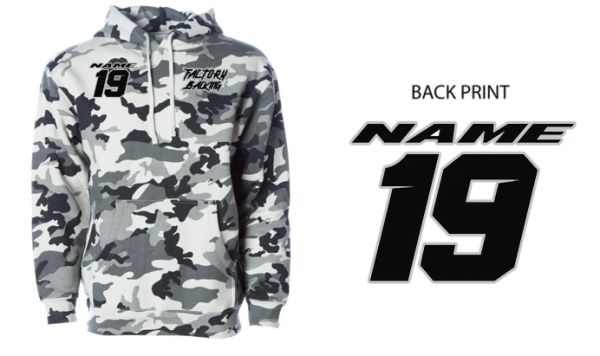 Pit Hoody Sweatshirt Snow Camo Custom MX clothing