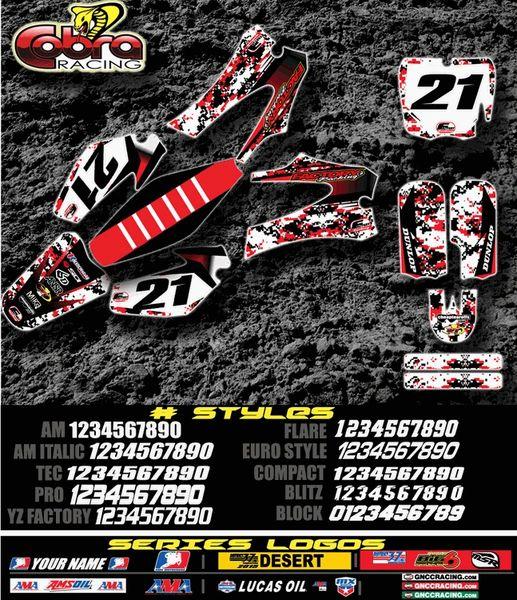 Cobra motorcycles Digi Camo Semi Custom Factory Backing Graphics