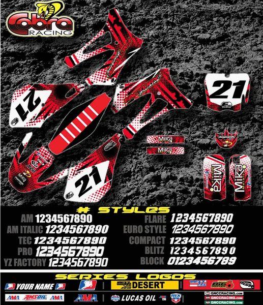 Cobra motorcycles Manic Semi Custom Factory Backing Cobra Graphics