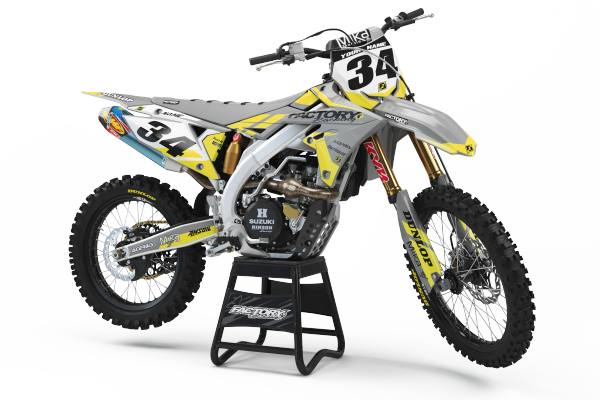Slain Twenty Suzuki Semi Custom Factory Backing MX Graphics
