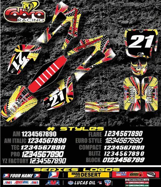Cobra motorcycles Circus Semi Custom Factory Backing Graphics