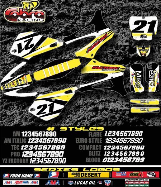 Cobra motorcycles Orbit Semi Custom Factory Backing Cobra Graphics