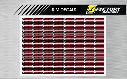 """Rim Decals (44 8"""" decals to cover both sides of 2 rims)"""