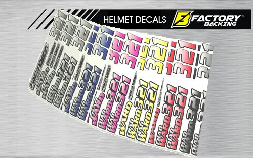 Helmet Sticker Set Style #2 (11 decals)