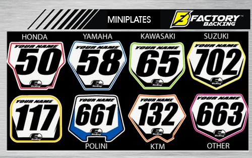 Basic Series Mini Front Number Plates