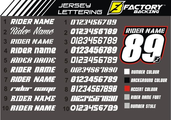 Jersey id : Create your own ID with number and name fonts to choose