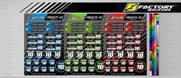 Rider ID sheet #2 MX Rider ID sheets