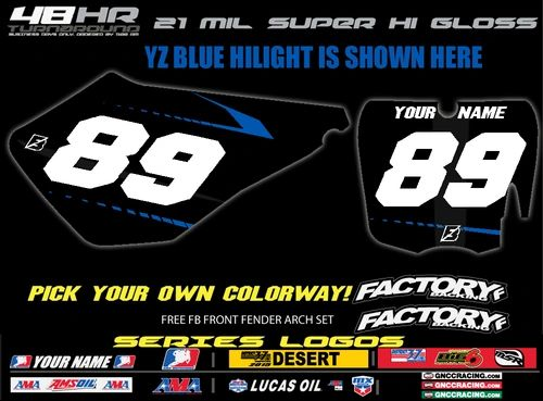 Cobra Moto Factory Backing Pre Printed Backgrounds F1 SERIES