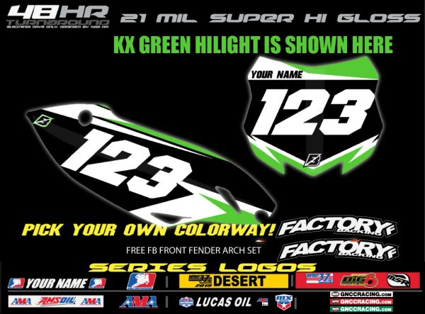 Kawasaki Factory Backing Pre Printed Backgrounds F5 SERIES