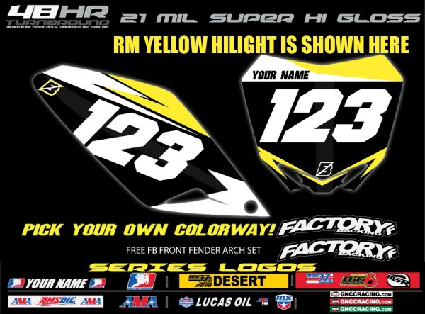 Suzuki Factory Backing Pre Printed Backgrounds F5 SERIES