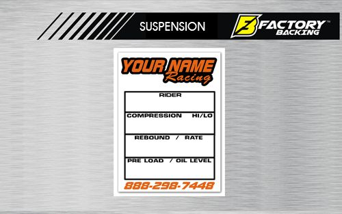 "19 MIL Suspension Setting Decals 2""X 3.5"""