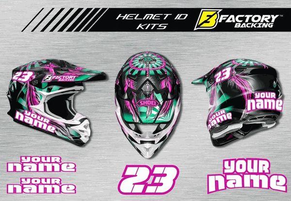 Helmet Sticker Set Style H2