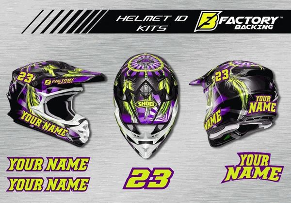 Helmet Sticker Set Style H4