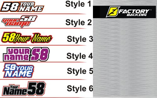 12 Tank Name decals (6 designs to choose from)