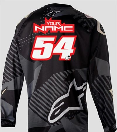 Jersey Style #6 Custom printed on your Jersey FREE SHIPPING!