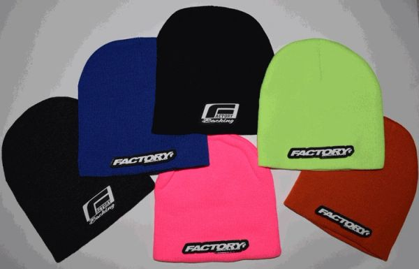 Factory Backing Beanie with 3d rubber logo