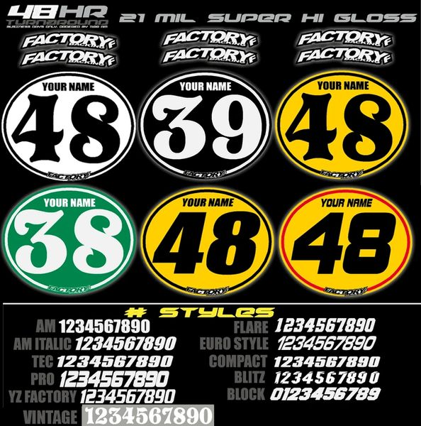 Vintage Number Plate Backgrounds (Decals only)