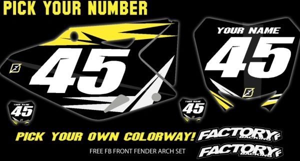 Suzuki Fast Guy pre printed backgrounds Includes Air box if applies and 3 logos