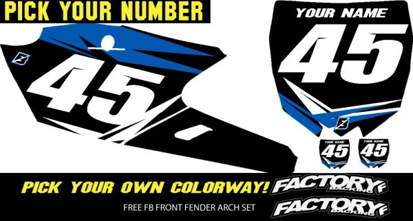 Yamaha Fast Guy pre printed backgrounds Includes Air box if applies and 3 logos