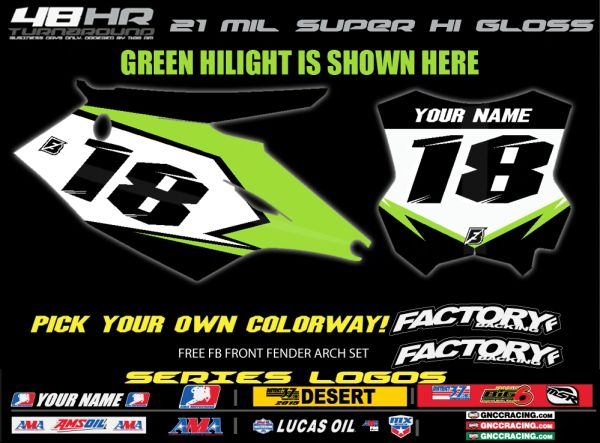 Kawasaki Factory Backing Pre Printed Backgrounds F8 SERIES