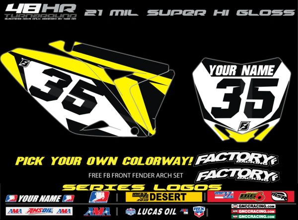 Suzuki Factory Backing Pre Printed Backgrounds Edgy SERIES