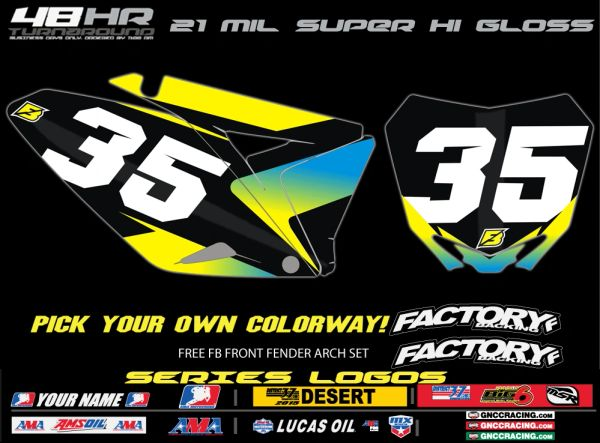 Suzuki Factory Backing Pre Printed Backgrounds Sreamin' Series