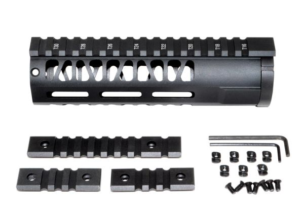 M Lok Style Free Float Aluminum Handguard For Ar 223 Carbine