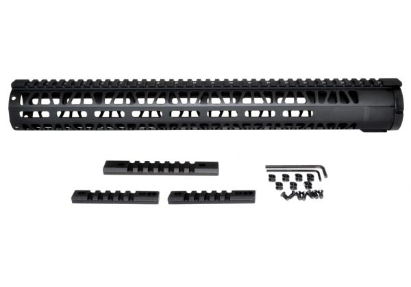 M Lok Style Free Float Aluminum Handguard For Ar 223 Rifle Length
