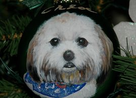Custom Dog Christmas ornament