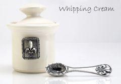 Petite Salt Pot - Fleur de Lys